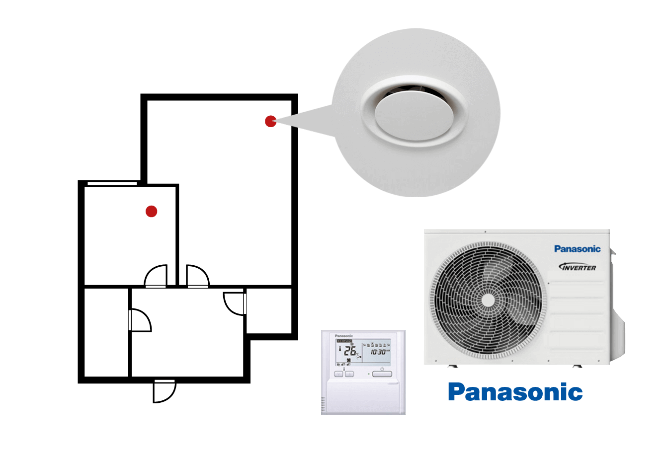 Heat Pumps Ducted Ceiling Small - Heating