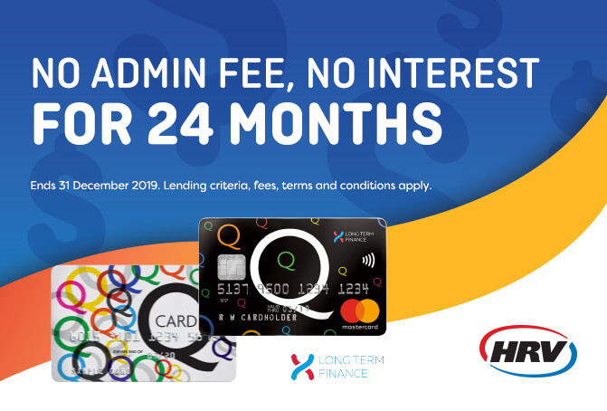 NO interest, NO admin fee for 24 months!