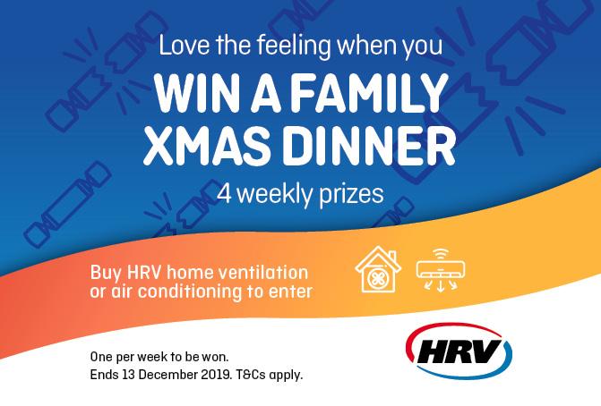 Love the feeling of winning Christmas dinner on us