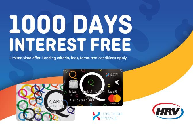 1000 DAYS INTEREST FREE