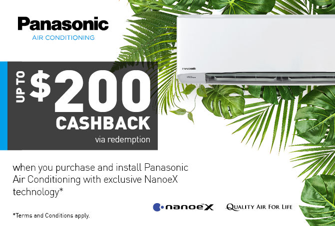 Panasonic NanoeX Air Con Cashback