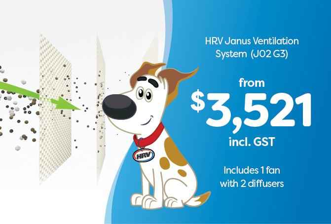 HRV Janus Ventilation System (J02 G3) from $3521