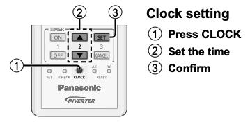 Panasonic Heat Pump Timer Mode Diagram