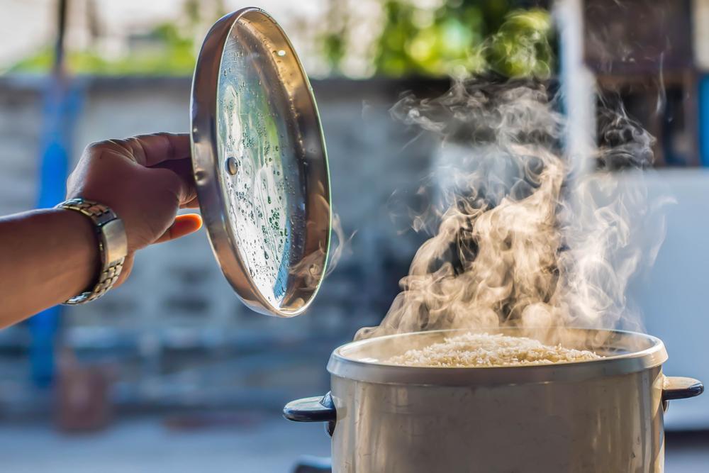 Pot on stove creating moisture
